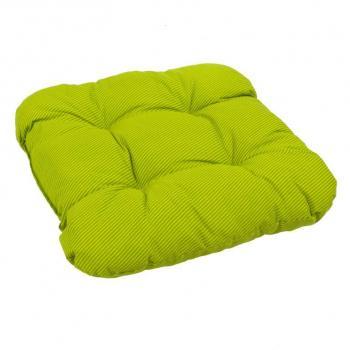 Vysoký měkký polstr / podsedák pro židle a křesla, zelená+ pruhy, 38x38 cm