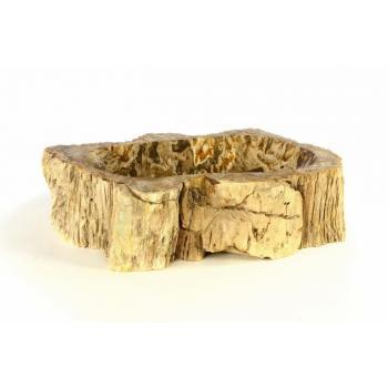 Kamenné umyvadlo na desku do koupelny, zkaměnělé dřevo