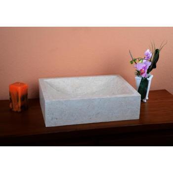 Okrasné mramorové umyvadlo na desku, do koupelny, světlé