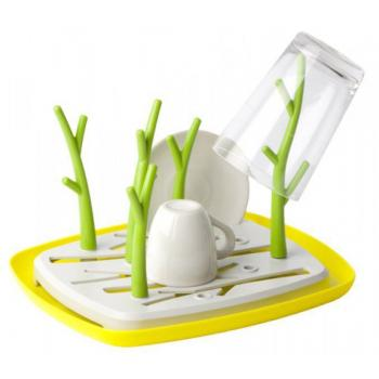 Ozdobný kuchyňský odkapávač na nádobí, stromy, žlutá / bílá / zelená