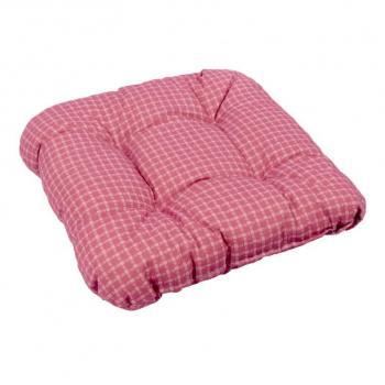Vysoký měkký polstr na židle / křesla, venkovní / vnitřní, červený, 38x38 cm