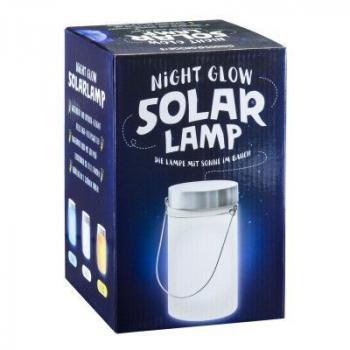 Ozdobná venkovní lampa se solárním nabíjením, na zavěšení / postavení, 18,5 cm