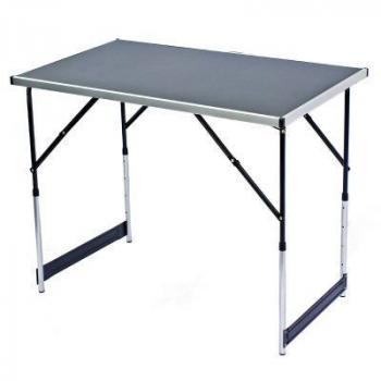 Skládací kempinkový stůl výškově nastavitelný, 100x60 cm