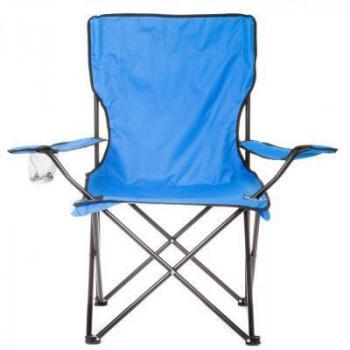 Skládací textilní kempovací židle + přenosné pouzdro, modrá