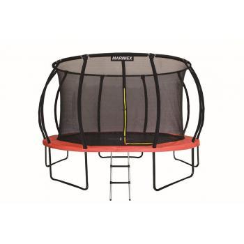 Velká dětská venkovní trampolína, vysoká nosnost 150 kg, vnitřní ochranná síť, 457cm