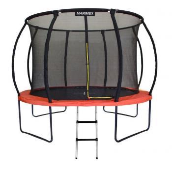Velká dětská venkovní trampolína, vysoká nosnost 150 kg, vnitřní ochranná síť, 305 cm