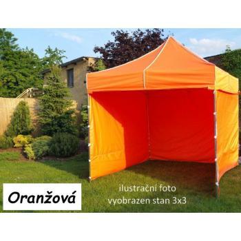 Zahradní párty stan PROFI STEEL 3 x 4,5 - oranžová
