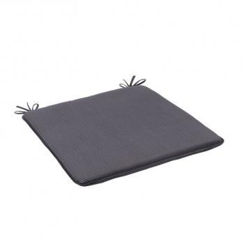 4ks měkká podložka na židli, šňůrky na uchycení, šedá, 37x37 cm