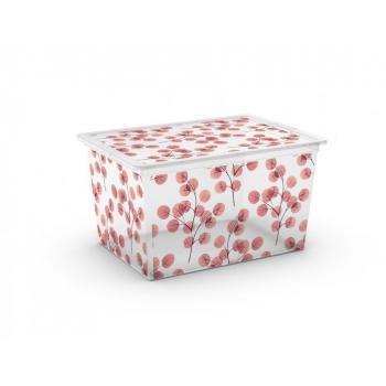 Skladovací box do domácnosti / na zahradu, poloprůhledný, 50 L
