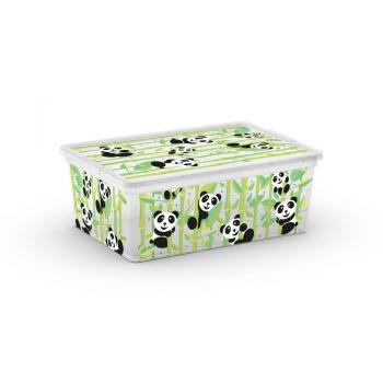 Úložný plastový box s víkem pro děti, potisk medvídci, 11 L