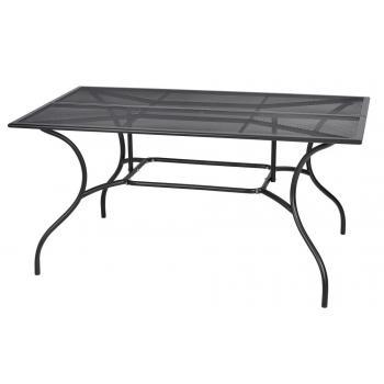 Bytelný ocelový zahradní stůl obdélníkový, tahokov (drátěný), 150x90 cm