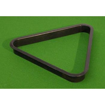 Plastový trojúhelník pro kulečníky, černý, pro koule 57,2 mm
