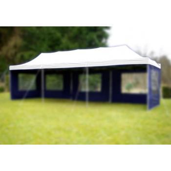 Samostatná střecha pro nůžkové zahradní stany a altány 3x9 m, bílá