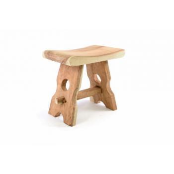 Ručně vyrobená designová stolička, venkovský styl, mungurové dřevo, výška 45 cm