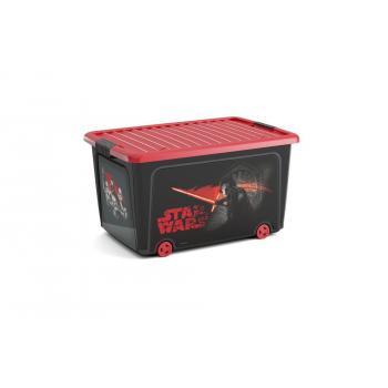 Velký úložný box s víkem do dětského pokoje, s kolečky, Star Wars, 50 L