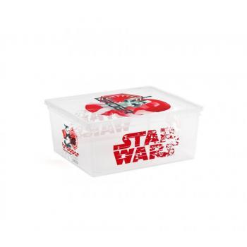 Úložný box s víkem do dětského pokoje, s kolečky, Star Wars, 18 L