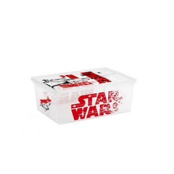 Úložný box s víkem do dětského pokoje, s kolečky, Star Wars, 11 L