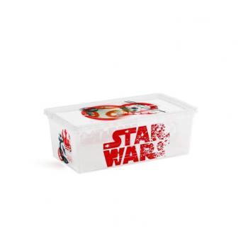 Úložný box s víkem do dětského pokoje, s kolečky, Star Wars, 6 L