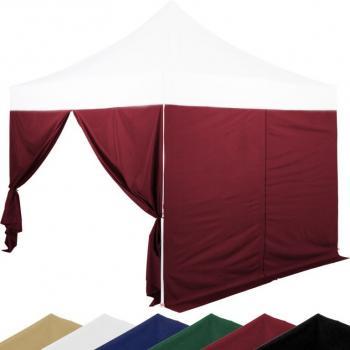 Sada 2 bočních stěn na stany INSTENT 3 x 3 m - burgundská