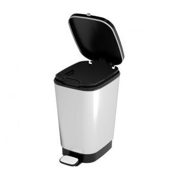 Pedálový odpadkový koš do kuchyně, vyjímatelná nádoba, stříbrný, 10 L