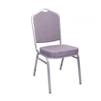 Banketová / kongresová židle vysoce polstrovaná, stohovatelná, nosnost 150 kg, šedá