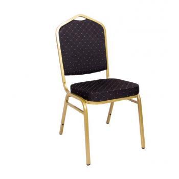 Banketová / kongresová židle vysoce polstrovaná, stohovatelná, nosnost 150 kg, černá
