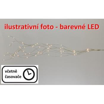 Svítící drátky s mikro LED diodami - vánoční osvětlení vnitřní, na baterie, barevné, 0,65 m