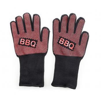 Tepelně odolné grilovací rukavice, odolnost do 350°C, textil / guma