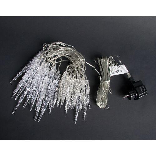 Svítící krápníky z LED diod venkovní / vnitřní, modré, 5,5 m