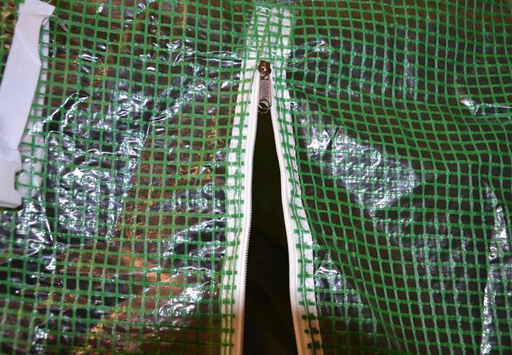 Fóliovník s půlkruhovou konstrukcí, ocelový rám, 190x450x200 cm