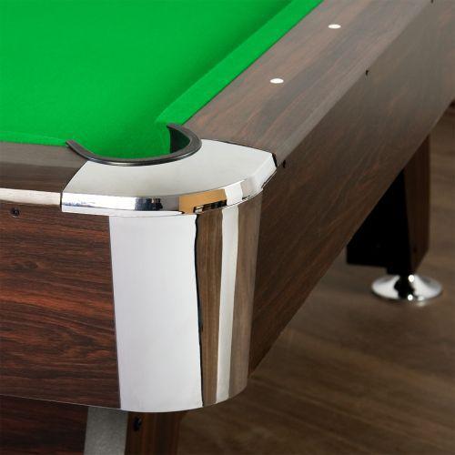 Kulečníkový stůl 7 ft, nivelační patky, centrální vracení koulí, zelený