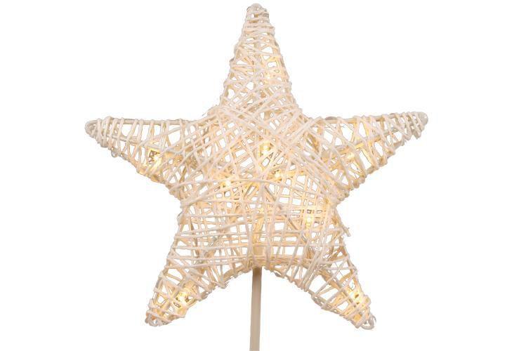 Vánoční svítící hvězda do okna, vč. podstavce, na baterie