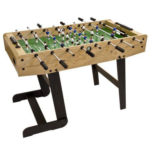 Stolní fotbal se skládacím mechanismem, dřevodekor, 121x101x79 cm