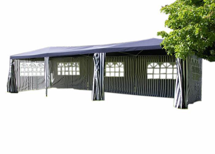 Zahradní párty stan 3x9 m vč. bočních stěn, modrý
