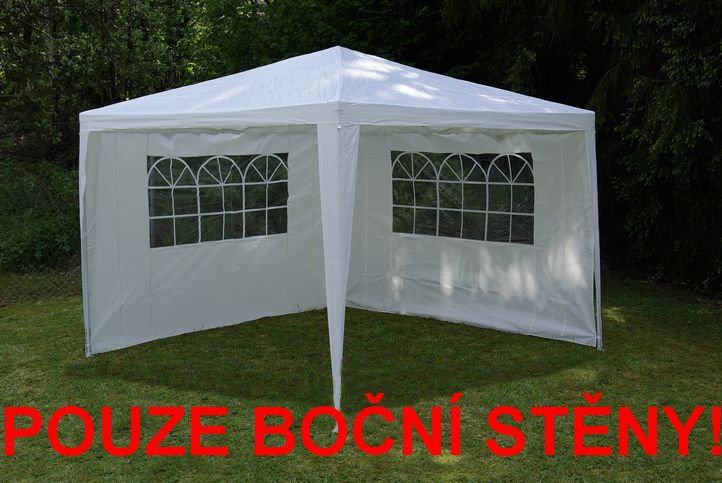 2 ks boční stěna s okny pro zahradní párty stany, bílá