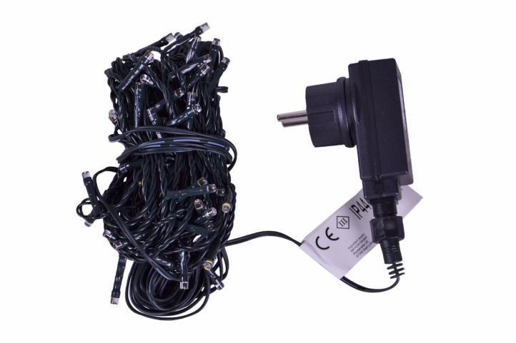 Vánoční světelný řetěz venkovní / vnitřní, 80 LED diod, 8 m