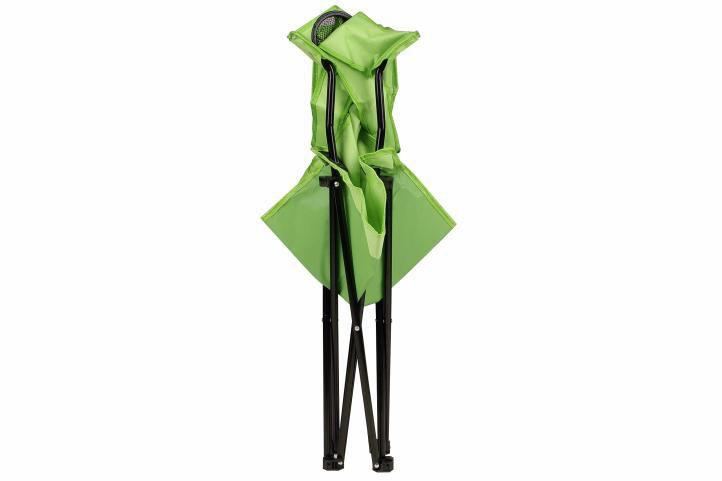 Textilní kempinková židle skládací, vč. pouzdra, zelená