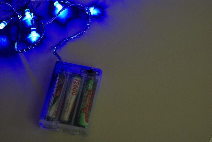 Vánoční dekorace - LED řetěz vnitřní na baterie, 4,85 m
