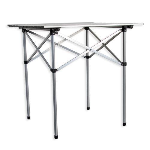 Venkovní přenosný stůl čtvercový 70 x 70 cm, hliník