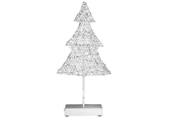Vánoční dekorace na okno / stolek, svítící stromek 40 cm