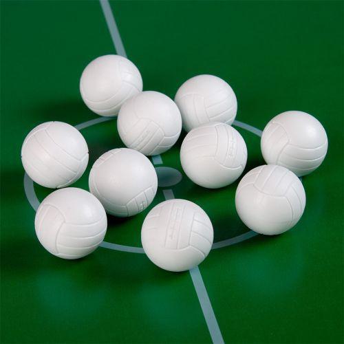 10 ks míček pro stolní fotbal 36 mm, bílý