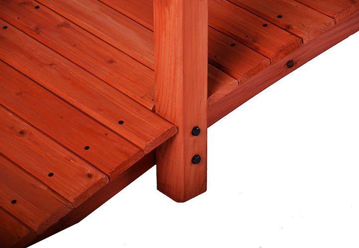 Dřevěný ozdobný můstek na zahradu 2,5 m, impregnovaný