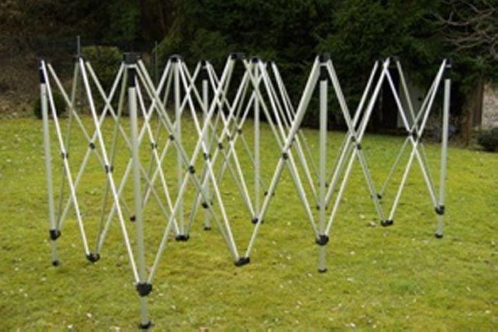 Náhradní nůžková konstrukce pro zahradní stany 3x6 m, kovová