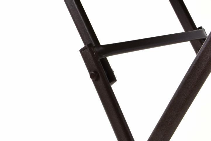 Set balkonového nábytku, 2 židle + skládací kulatý stolek, hnědý