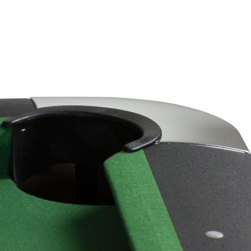Kulečníkový stůl 7 ft, nastavitelné nohy, centrální vracení koulí, zelený