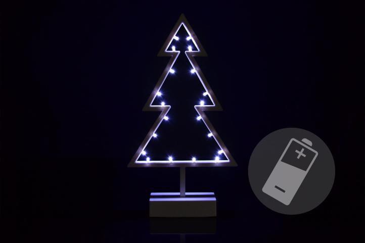 Vánoční dekorce na stolek nebo parapet, svítící stromek na baterie