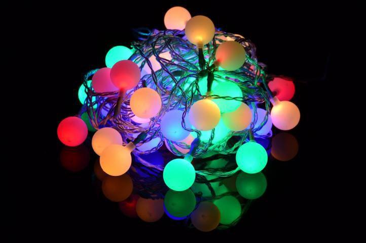 Venkovní osvětlení na párty a večírky, 50 ks svítících koulí