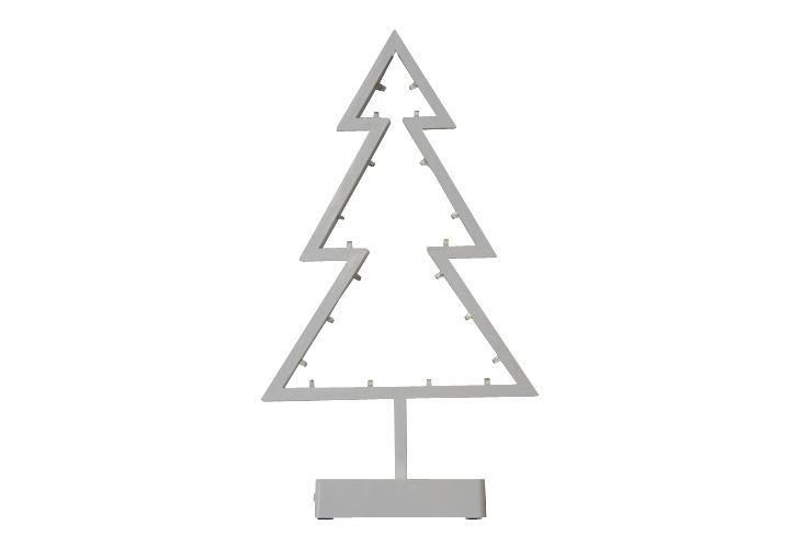 Vánoční dekorace na parapet / stolek - svítící stromek na baterie