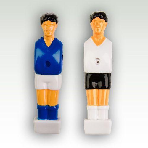 22 ks figurky pro stolní fotbal, pro průměr tyče 13 mm, modrá / bílá