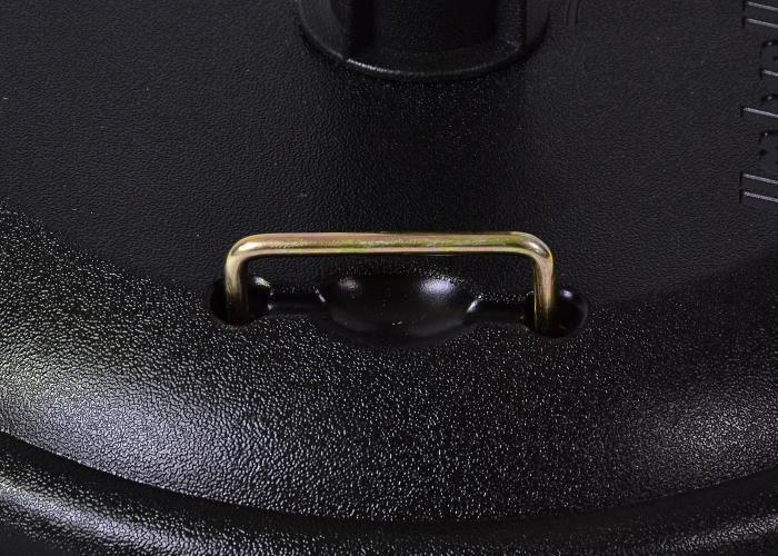 Kulatý stojan na sluečník s úchyty černý, 23 kg